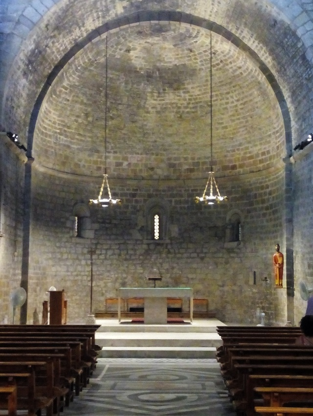 One of three domed apsides that front the single nave