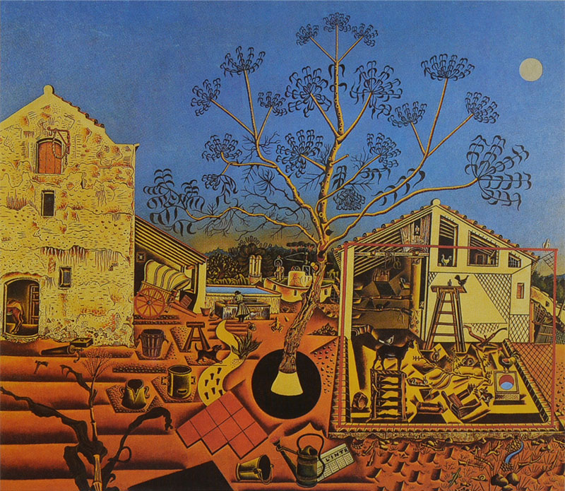 'La màsia' (The Farm, 1920–1922) contained the seeds of the direction Miró's art would develop